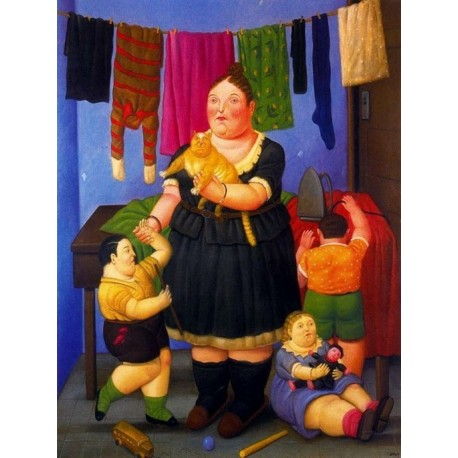 La viuda By Fernando Botero - Art gallery oil painting reproductions
