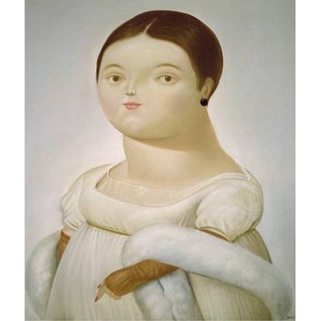 Mademoiselle Riviere By Fernando Botero - Art gallery oil painting reproductions