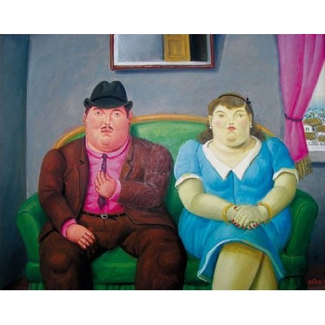 Man And Woman By Fernando Botero - Art gallery oil painting reproductions