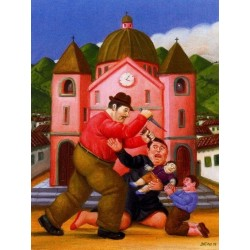 Matanzan de los inocentes By Fernando Botero - Art gallery oil painting reproductions