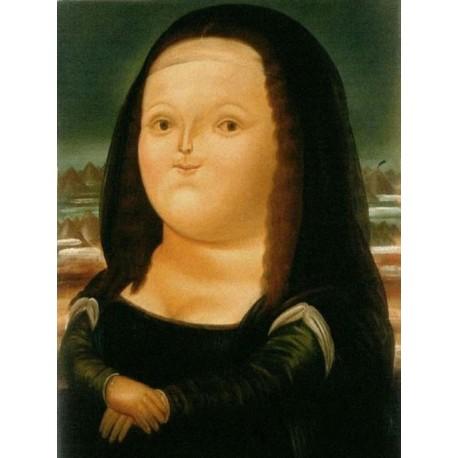 Mona Lisa By Fernando Botero Art Gallery Oil Painting