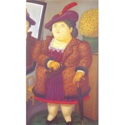 Mujer Con Abrigo de Piel By Fernando Botero - Art gallery oil painting reproductions