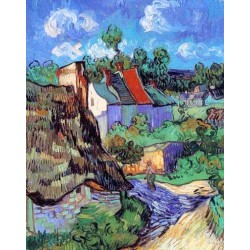 Houses at Auvers by Vincent Van Gogh -Art gallery oil painting reproductions