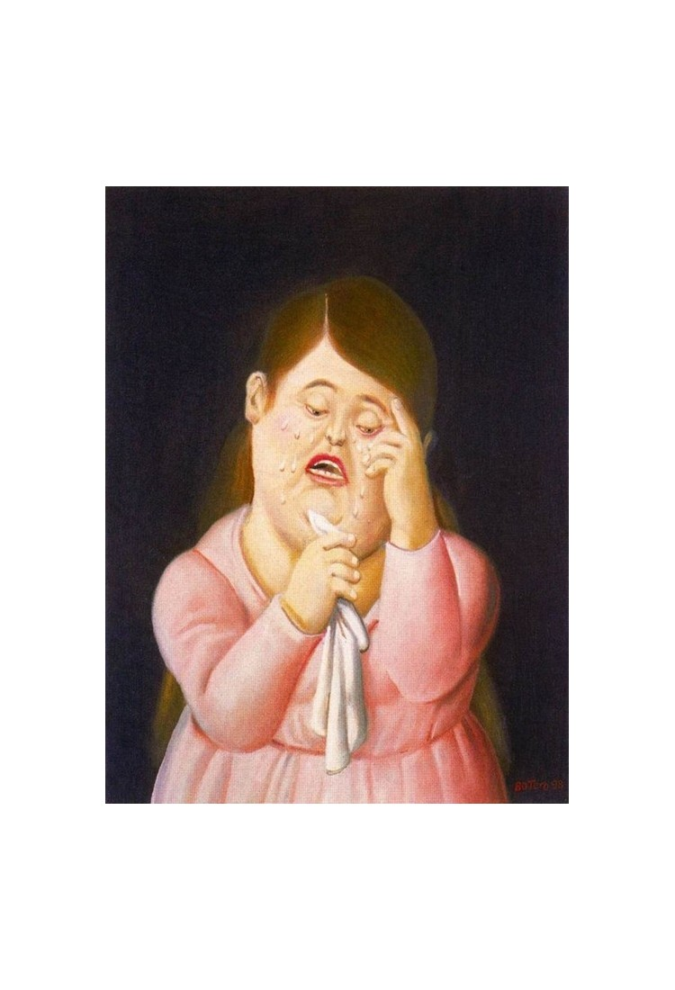 Mujer llorando 2 By Fernando Botero- Art gallery oil ...