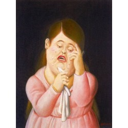 Mujer llorando 2 By Fernando Botero- Art gallery oil painting reproductions