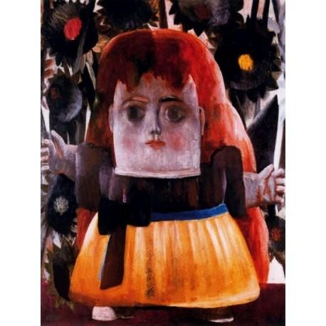 Nina perdida en un jardin By Fernando Botero - Art gallery oil painting reproductions
