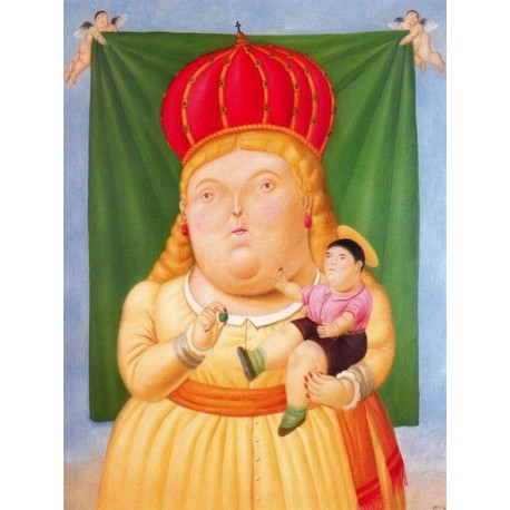 Nuestra Senora de Colombia By Fernando Botero - Art gallery oil painting reproductions