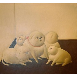 Perros By Fernando Botero - Art gallery oil painting reproductions