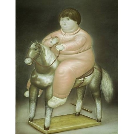Pedro On A Horse By Fernando Botero - Art gallery oil painting reproductions