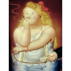Rosita By Fernando Botero - Art gallery oil painting reproductions