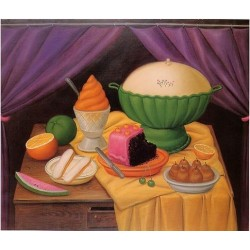 Still Life 1990 By Fernando Botero - Art gallery oil painting reproductions