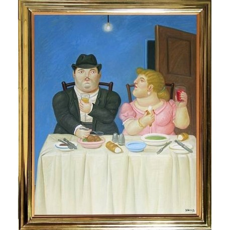 The Dinner By Fernando Botero - Art gallery oil painting reproductions