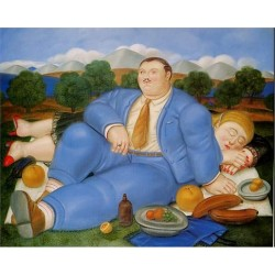 The Nap 1982 By Fernando Botero - Art gallery oil painting reproductions