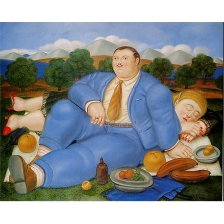 The Nap 1982 By Fernando Botero Art Gallery Oil Painting