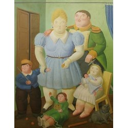 The General And His Family By Fernando Botero - Art gallery oil painting reproductions