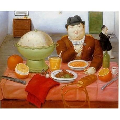 The Supper 1987 By Fernando Botero- Art gallery oil painting reproductions