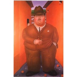 The Street 1979 By Fernando Botero - Art gallery oil painting reproductions