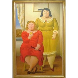 Two Sisters By Fernando Botero- Art gallery oil painting reproductions