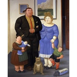 Une Famille By Fernando Botero - Art gallery oil painting reproductions