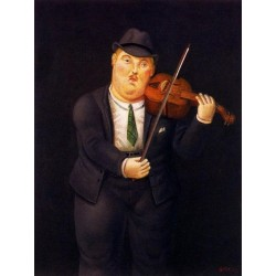 Violinista By Fernando Botero - Art gallery oil painting reproductions