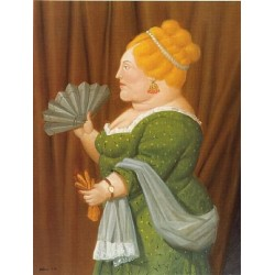 Woman In Profile By Fernando Botero - Art gallery oil painting reproductions