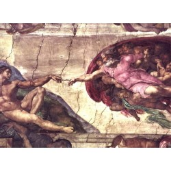 Creation of Adam detail by Michelangelo- Art gallery oil painting reproductions