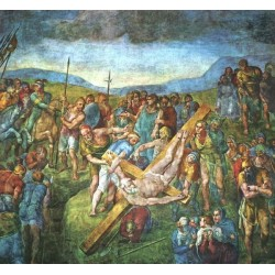 Matyrdom of Saint Peter by Michelangelo- Art gallery oil painting reproductions