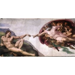 The Creation of Adam by Michelangelo-Art gallery oil painting reproductions