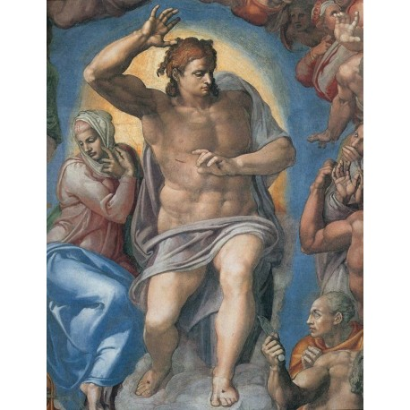 The Last Judgement Christ the Judge By Michelangelo- Art gallery oil painting reproductions