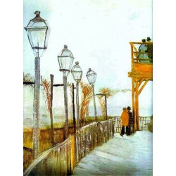 Montmartre, Paris, Autumn by Vincent Van Gogh- Art gallery oil painting reproductions