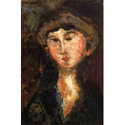 Beatrice Hastings by Amedeo Modigliani oil painting art gallery