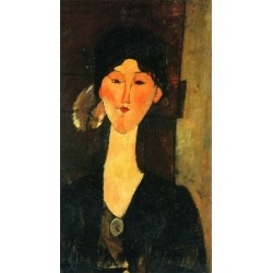 Beatrice Hastings Standing by a Door by Amedeo Modigliani oil painting art gallery