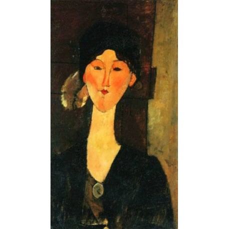 Beatrice Hastings Standing by a Door by Amedeo Modigliani