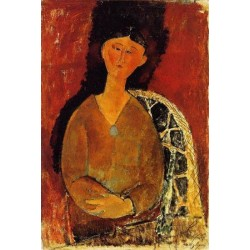 Beatrice Hastings, Seated by a Door by Amedeo Modigliani oil painting art gallery