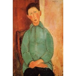 Boy in a Blue Shirt by Amedeo Modigliani oil painting art gallery