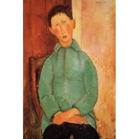 Boy in a Blue Shirt by Amedeo Modigliani
