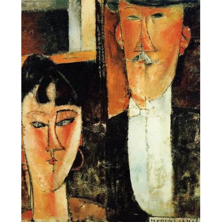 Bride and Groom (aka The Newlyweds) by Amedeo Modigliani oil painting art gallery