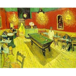 Night cafe in place Lamartine by Vincent Van Gogh - Art gallery oil painting reproductions