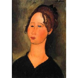 Burgundian Woman by Amedeo Modigliani oil painting art gallery