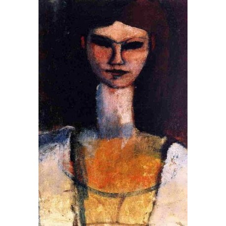 Bust of a Young Woman by Amedeo Modigliani oil painting art gallery