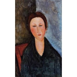 Bust of a Young Woman (aka Mademoiselle Marthe) by Amedeo Modigliani oil painting art gallery