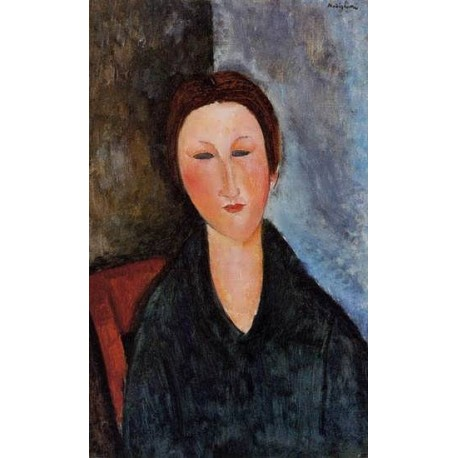 20fb09609a9 Bust of a Young Woman (aka Mademoiselle Marthe) by Amedeo Modigliani oil painting  art