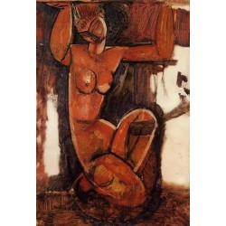 Caryatid by Amedeo Modigliani oil painting art gallery