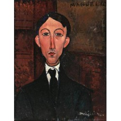 Bust of Manuel Humbert by Amedeo Modigliani oil painting art gallery