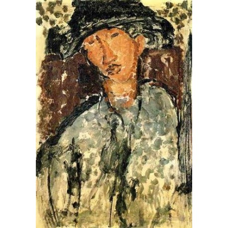 Chaim Soutine by Amedeo Modigliani oil painting art gallery