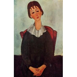 Girl on a Chair (aka Mademoiselle Huguette) by Amedeo Modigliani oil painting art gallery