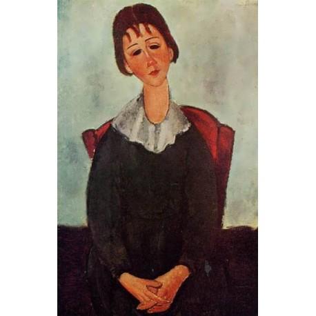 Girl on a Chair (aka Mademoiselle Huguette) by Amedeo Modigliani