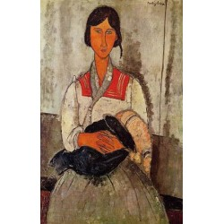 Gypsy Woman with Baby by Amedeo Modigliani oil painting art gallery