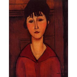 Head Of A Young Girl by Amedeo Modigliani oil painting art gallery