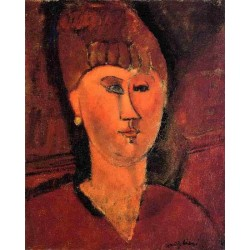 Head of Red-Haired Woman by Amedeo Modigliani oil painting art gallery